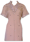 Fawn Crinkle Chiffon Suit