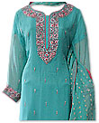Sea Green Crinkle Chiffon Suit�