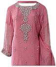 Pink Crinkle Chiffon Suit