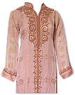 Peach Chiffon Jamawar Suit- Indian Dress