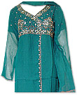 Sea Green/Peach Chiffon Suit- Indian Semi Party Dress