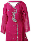 Hot Pink Chiffon Suit - Indian Dress