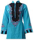 Turquoise/Black Khaddar Suit