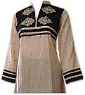 Skin/Black Khaddar Suit - Pakistani Casual Clothes