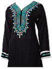 Black/Sea Green Khaddar Suit