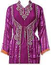 Magenta Chiffon Suit - Indian Semi Party Dress