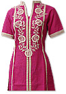 Hot Pink/Skin Khaddar Suit- Pakistani Casual Dress