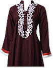 Dark Brown Linen Suit - Pakistani Casual Clothes