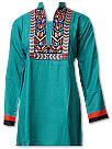 Sea Green Linen Suit - Pakistani Casual Clothes