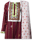 Maroon Khaddar Suit- Pakistani Casual Dress