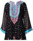 Black Chiffon Jamawar Suit- Indian Semi Party Dress
