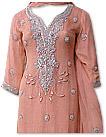 Peach Crinkle Chiffon Suit