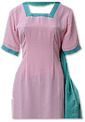 Baby Pink/Green Georgette Suit- Pakistani Casual Dress