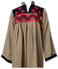 Beige Khaddar Suit - Pakistani Casual Clothes