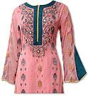 Peach Chiffon Jamawar Suit