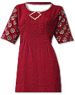 Red Chiffon Suit - Indian Dress