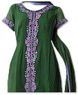 Green Chiffon Suit  - Indian Dress