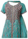 Sea Green Crinkle Chiffon Suit- Pakistani party wear