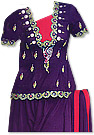 Dark Purple Georgette Gharara Suit