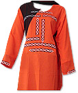 Orange/Black Georgette Suit- Pakistani Casual Dress
