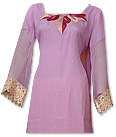 Lilac/Golden Chiffon Suit- Indian Dress