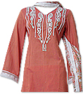 Peach Cotton Lawn Suit - Indian Dress