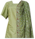 Green Pure Katan Silk Suit