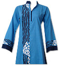 Turquoise Cotton Khaddar Suit - Pakistani Casual Clothes