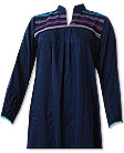 Navy Blue Linen Suit - Pakistani Casual Clothes