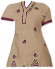 Beige/Magenta Georgette Suit  - Pakistani Casual Dress