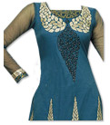 Dark Turquoise Chiffon Suit- Indian Dress