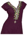 Dark Magenta/Olive Georgette Suit  - Pakistani Casual Dress