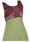 Green/Dark Magenta Georgette Suit