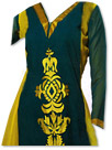 Dark Green/Yellow Georgette Suit
