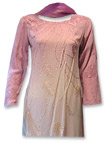 Tea Pink Georgette Suit- Pakistani Casual Dress
