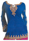 Blue/Magenta Georgette Trouser Suit- Indian Dress
