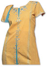Mustard/Turquoise Georgette Trouser Suit- Indian Dress