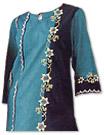 Blue/Black Georgette Trouser Suit- Pakistani Casual Clothes