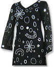 Black/White Chiffon Suit- Indian Semi Party Dress