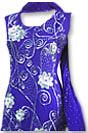 Blue Crinkle Chiffon Suit