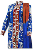Royal Blue/Brown Sherwani Suit- Pakistani Bridal Dress