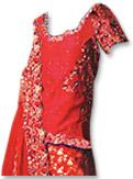 Red Silk/Jamawar Zarri Lehnga