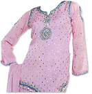 Lilac Chiffon Trouser Suit - Indian Semi Party Dress