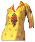 Lime Yellow Georgette Suit- Indian Semi Party Dress