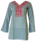 Pale Blue Khaddi Cotton Kurti
