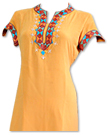 Mustard Georgette Suit- Pakistani Casual Clothes