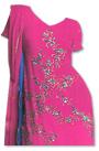 Hot Pink/Blue Chiffon Suit- Indian Semi Party Dress