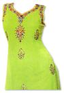 Parrot Green Chiffon Suit
