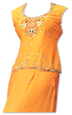 Orange Katan Silk Lehnga