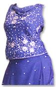 Blue Katan Silk Lehnga